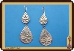 Boucles d'oreilles africaines (argent) ref 4025