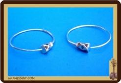 Boucles d'oreilles africaines (argent) ref 4028