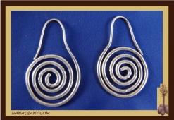 Boucles d'oreilles argent massif  Ref : C1-B07