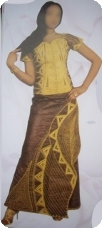 Manches courts Bazin super riche Mali<br /> ref 5127