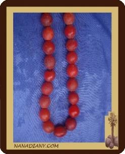 Collier perle de verre africaines ref : CPA034