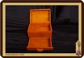 boite à bijoux en cuir touareg ref 312