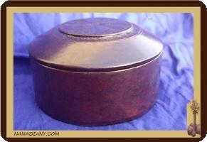 boite à bijoux en cuir touareg  ref : 179BMV