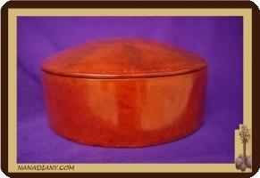 boite à bijoux ou autre recouverte de cuir touareg ref 307