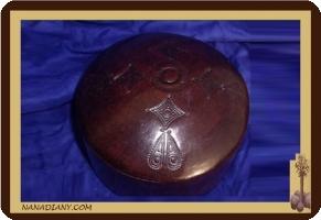 boite à bijoux en cuir touareg  ref : 179MV