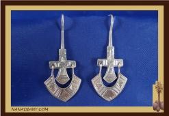 Boucles d'oreilles argent massif  Ref : C1-B01
