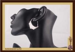 Boucles d'oreilles argent massif  Ref : C1-B03