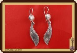 Boucles d'oreilles argent massif  Ref : C1-B20