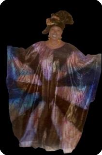 Boubou robe bazin art et artisanat africain du Mali Ref 5600