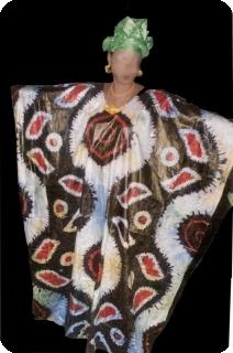 Boubou robe bazin art et artisanat africain du Mali Ref 5601