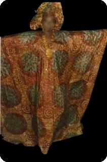 Boubou robe bazin art et artisanat africain du Mali Ref 5602