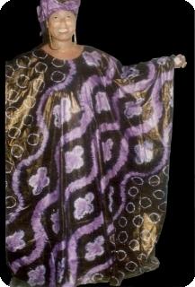 Boubou robe bazin art et artisanat africain du Mali Ref 5604