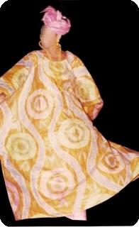 Boubou robe bazin art et artisanat africain du Mali Ref 5605