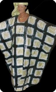 Boubou robe bazin art et artisanat africain du Mali Ref 5606