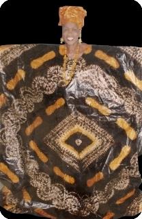 Boubou robe bazin art et artisanat africain du Mali Ref 5607