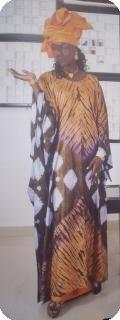 Boubou robe bazin art et artisanat africain du Mali Ref : 5608