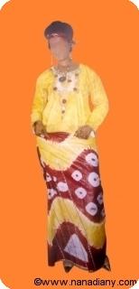 Boubou robe bazin riche art et artisanat africain du Mali Ref 5330