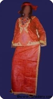 Boubou robe bazin riche art et artisanat africain du Mali Ref 5321