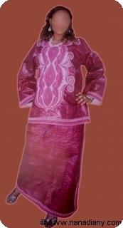 Boubou robe bazin riche art et artisanat africain du Mali Ref 5322