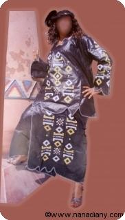 Boubou robe bazin riche art et artisanat africain du Mali Ref 5323