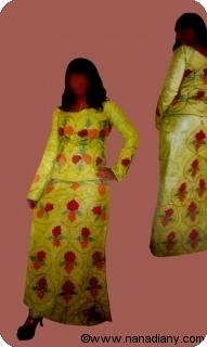 Boubou robe bazin riche art et artisanat africain du Mali Ref 5324