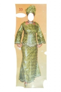 Boubou robe bazin riche art et artisanat africain du Mali  Ref 5302