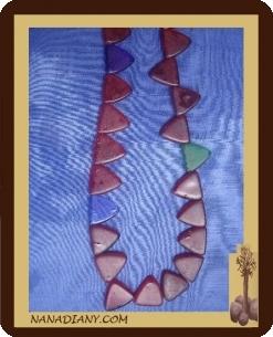 Collier perle de verre africaines ref : CPA033