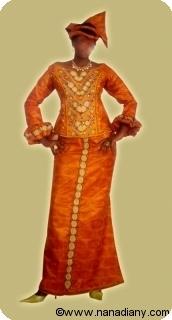 Robe/boubou africaine bazin riche Ref 5309
