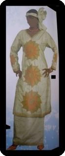 Robe africaine bazin riche  ref 5403
