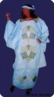 Robe africaine bazin riche  Mali ref 5404