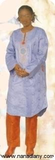 Boubou robe bazin riche  Ref 5407