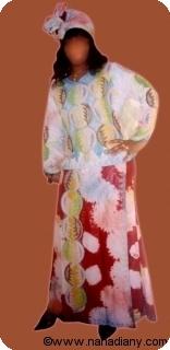 Boubou robe bazin riche art et artisanat africain du Mali Ref 5327