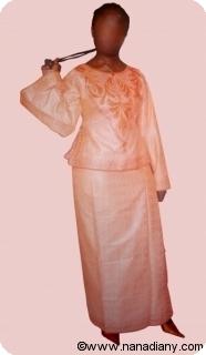 Boubou robe bazin riche art et artisanat africain du Mali Ref 5329