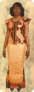 Manches courts Bazin super riche Mali Ref 5116