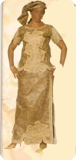 Manches courts Bazin super riche Mali Ref 5118