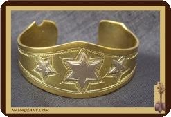 Bracelet touareg en bronze et argent  Ref 2100