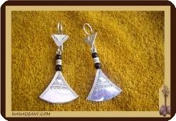 Ref 4010 boucles d'oreilles africaines bijou touareg argent Mali