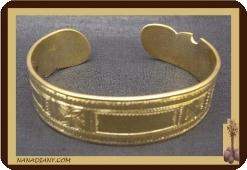 Bracelet africain touareg en bronze Ref 2304