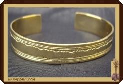 Bracelet africain touareg en bronze  Ref 2303