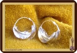 Boucles d'oreilles peules 3cm Ref 4311