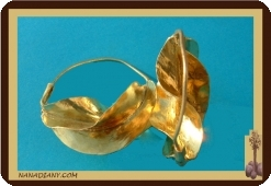 Boucles d'oreilles africaine en bronze peuhl/peul. Mali 5cm Ref 4302