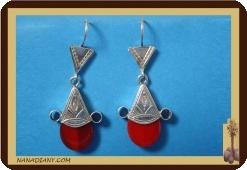 Boucles d'oreilles touareg (argent/perle de verre) Re : 4600