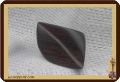 Bague en bois noir ébène massif ref 1403