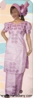 Manches courtes Bazin super riche Mali Ref 5961