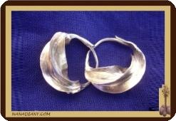 Boucles d'oreilles peules  en argent massif 2cm Ref 4310